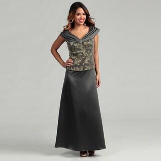 Patra Glitter-knit Ballet-neck Mock 2-piece Dress FINAL SALE