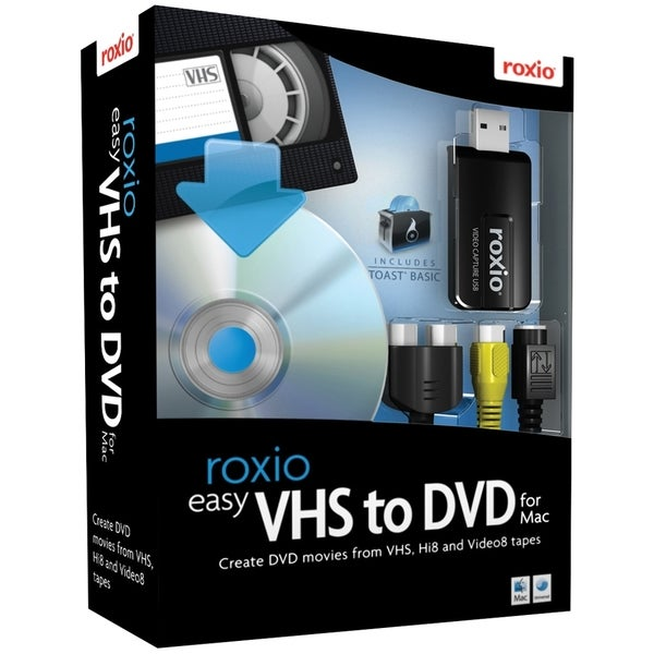 Roxio Easy VHS to DVD with USB 2.0 TV/Video Capture Device - Complete