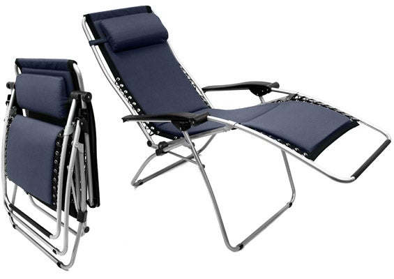 Foam Padded Zero Gravity Outdoor Folding Recliner