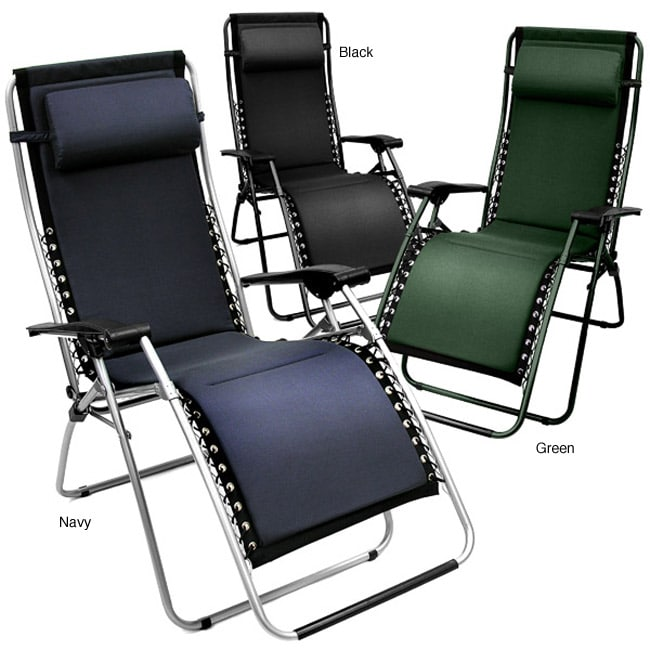 Foam Padded Zero Gravity Outdoor Folding Recliner Overstock