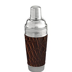 Brown Leather 13-inch Martini / Cocktail Shaker