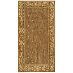 Indoor/ Outdoor Summer Brown/ Natural Rug (2'7 x 5')