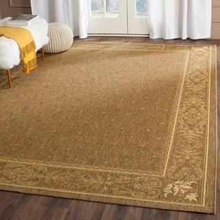 Safavieh Indoor/ Outdoor Summer Brown/ Natural Rug (5'3 x 7'7)