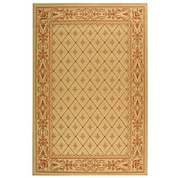 Safavieh Indoor/ Outdoor Summer Natural/ Terracotta Rug (5'3 x 7'7)
