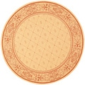 Safavieh Indoor/ Outdoor Summer Natural/ Terracotta Rug (5'3 Round)