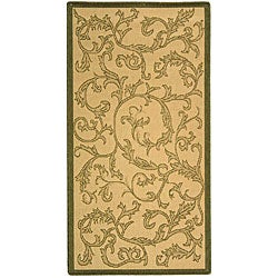 Indoor/ Outdoor Mayaguana Natural/ Olive Rug (4' x 5'7)