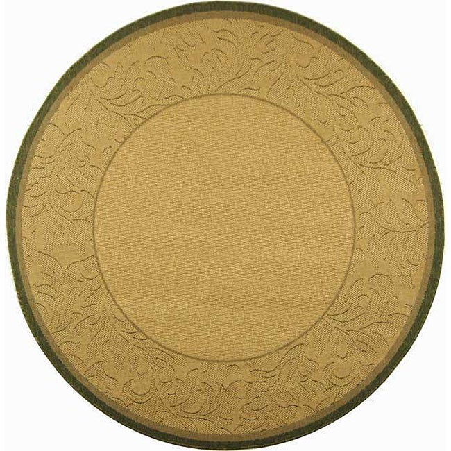 Safavieh Indoor Outdoor Paradise Natural Olive Rug 6 7