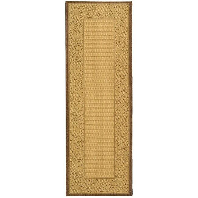 Safavieh Indoor/ Outdoor Paradise Natural/ Brown Rug (2'4 x 6'7)
