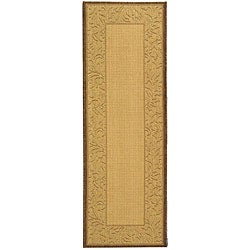 Indoor/ Outdoor Paradise Natural/ Brown Rug (2'4 x 6'7)