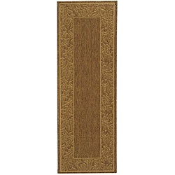 Indoor/ Outdoor Paradise Brown/ Natural Runner (2'4 x 6'7)