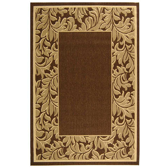 Safavieh Indoor/ Outdoor Paradise Brown/ Natural Rug (4' x 5'7)
