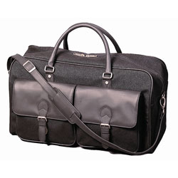 Stebco Black Durable Carry On Travel Sports Duffel Bag with Strap