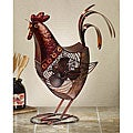 Metallic Figurine Rooster Fan