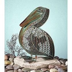 Metallic Figurine Pelican Fan