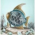 Metallic Figurine Fish Fan