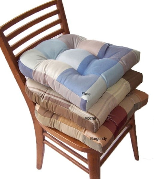 Berwick Plaid Nonslip Chair Pads (Set of 4)