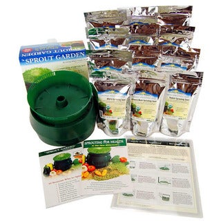 Sprout Garden Sprouting Seeds and Deluxe Sprouting Kit