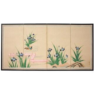 'Blue Pond of Life' Silk Painting (China)