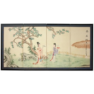 'Gift of the Flower' Silk Painted Room Divider (China)