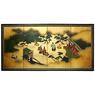Gold Leaf 'From Heaven Above' Silk Painting (China)