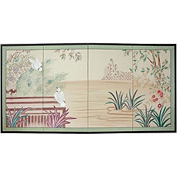 Silk 'Lush Garden' Painting (China)