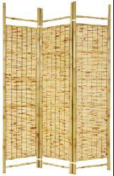 Burnt Bamboo Shoji Screen (China)