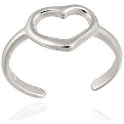 Mondevio Sterling Silver 'Heart Outline' Toe Ring