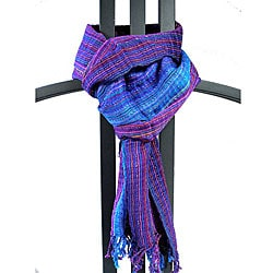 Purple/ Blue 'San Antonio' Scarf (Guatemala)