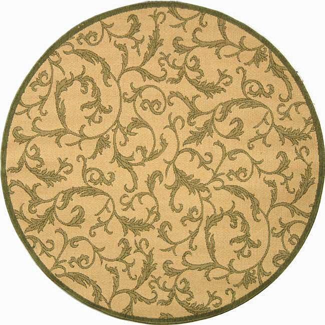 Safavieh Indoor Outdoor Mayaguana Natural Olive Rug 6 7