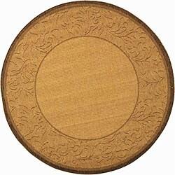 Safavieh Indoor/ Outdoor Paradise Natural/ Brown Rug (6'7 Round)