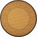 Indoor/ Outdoor Paradise Natural/ Brown Rug (6'7 Round)