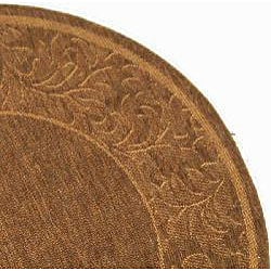 Indoor/ Outdoor Paradise Brown/ Natural Rug (6'7 Round)
