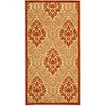 Indoor/ Outdoor St. Barts Natural/ Terracotta Rug (4' x 5'7)