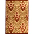 Indoor/ Outdoor St. Barts Natural/ Terracotta Rug (7'10 x 11')