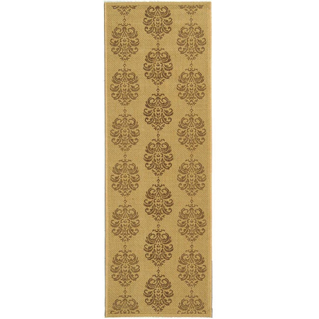 Safavieh Indoor/ Outdoor St. Martin Natural/ Brown Runner (2'4 x 6'7)