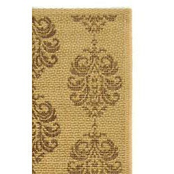 Indoor/ Outdoor St. Martin Natural/ Brown Runner (2'4 x 6'7)