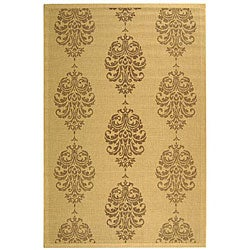 Indoor/ Outdoor St. Martin Natural/ Brown Rug (4' x 5'7)