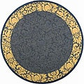 Indoor/ Outdoor Kaii Blue/ Natural Rug (5'3 Round)