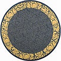 Safavieh Indoor/ Outdoor Kaii Blue/ Natural Rug (5'3 Round)