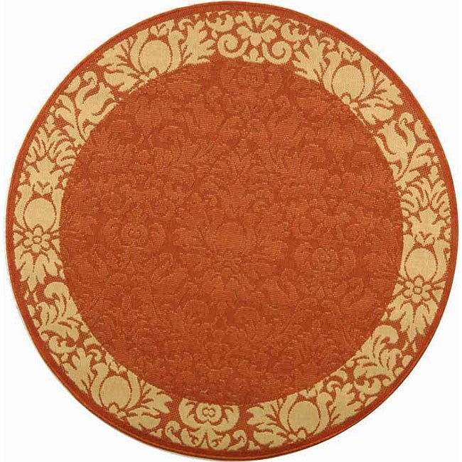 Safavieh Indoor Outdoor Kaii Terracotta Natural Rug 5 3