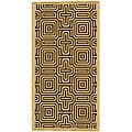Indoor/ Outdoor Matrix Natural/ Brown Rug (2'7 x 5')