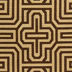 Indoor/ Outdoor Matrix Natural/ Brown Rug (4' x 5'7)