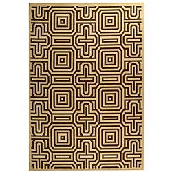 Indoor/ Outdoor Matrix Natural/ Brown Rug (5'3 x 7'7)