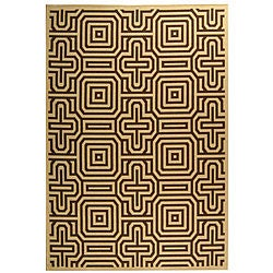 Safavieh Indoor/ Outdoor Matrix Natural/ Brown Rug (5'3 x 7'7)