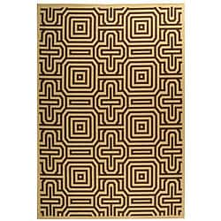 Indoor/ Outdoor Matrix Natural/ Brown Rug (6'7 x 9'6)