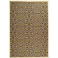 Safavieh Indoor/ Outdoor Matrix Natural/ Brown Rug (6'7 x 9'6)