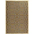 Indoor/ Outdoor Matrix Natural/ Brown Rug (7'10 x 11')
