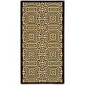 Indoor/ Outdoor Matrix Chocolate/ Natural Rug (4' x 5'7)