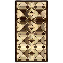 Indoor/ Outdoor Matrix Chocolate/ Natural Rug (6'7 x 9'6)