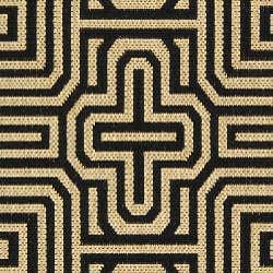 Indoor/ Outdoor Matrix Sand/ Black Rug (2'7 x 5')